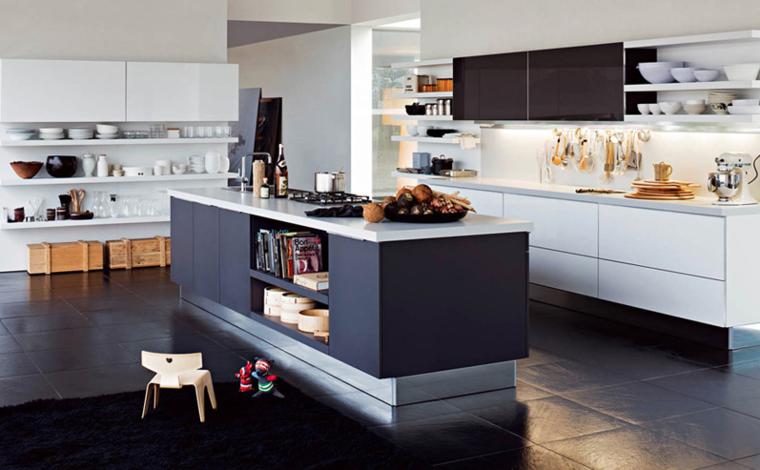 Cocinas blancas y grises los 50 dise os m s actuales for Cocinas blancas 2016