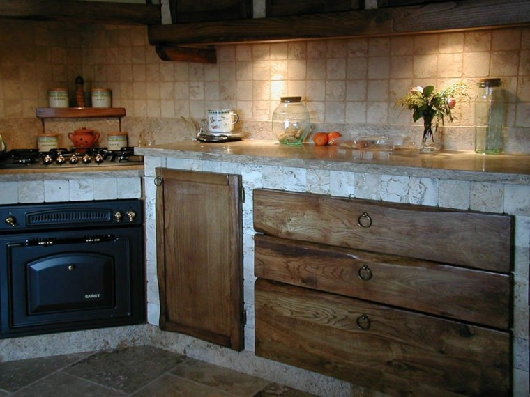 Cocina de obra treinta y siete dise os estupendos - Cocinas rusticas de obra ...