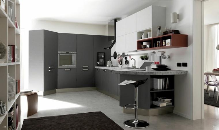 cocina diseño moderno forma esquina