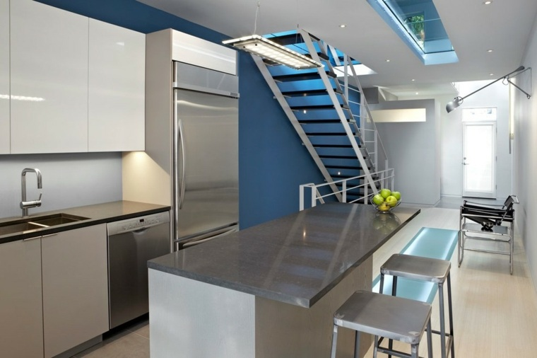 cocina moderna escaleras diseo moderno