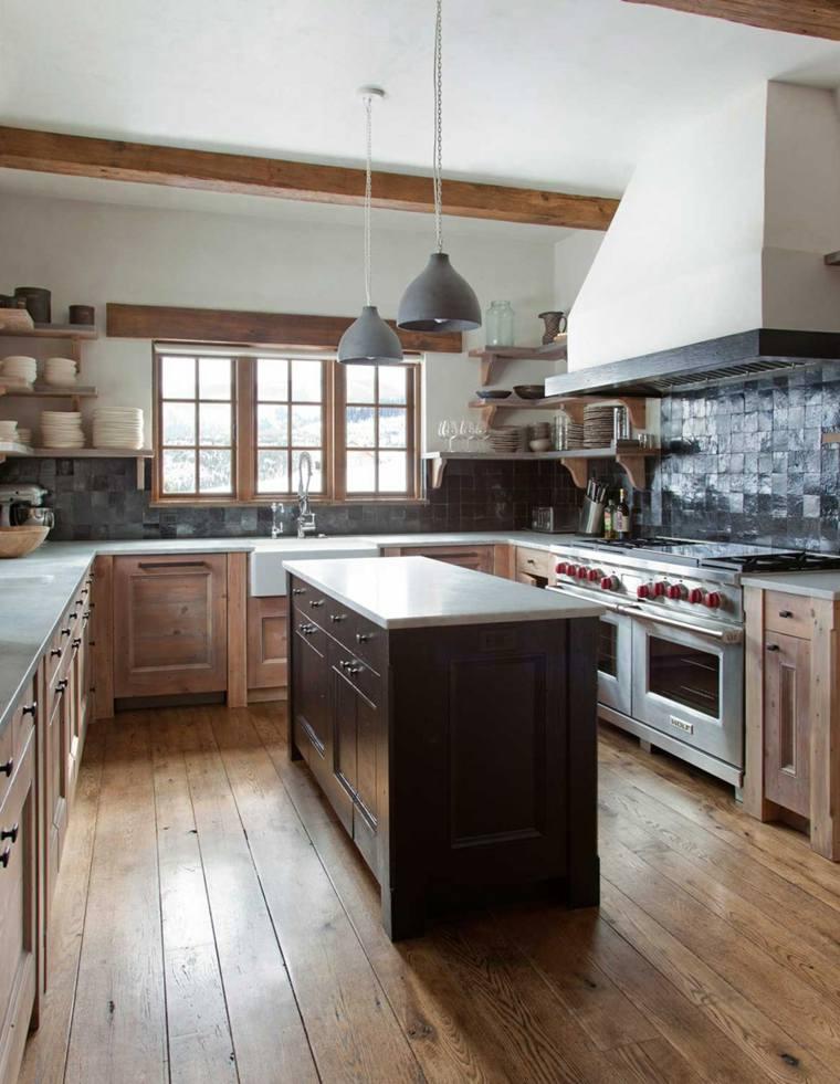 diseño cocina estilo rustico tradicional
