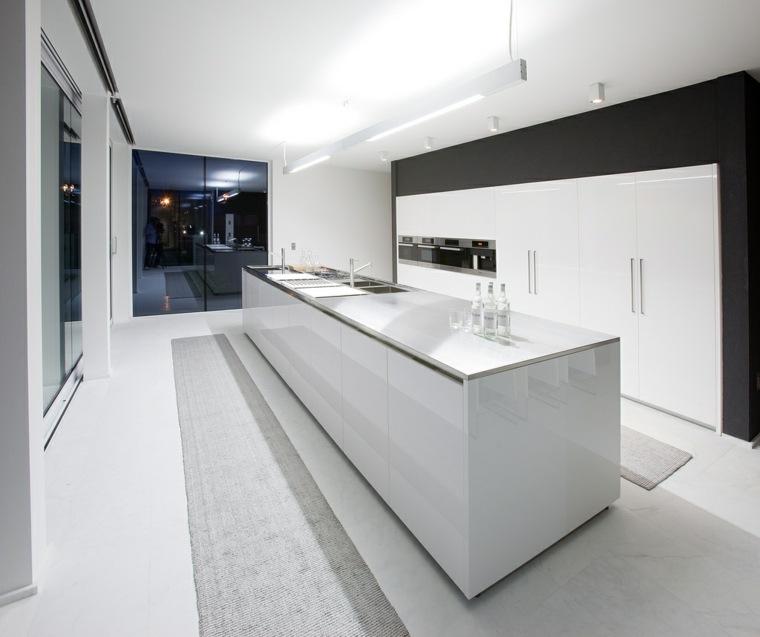 cocina estilo futurista color blanco