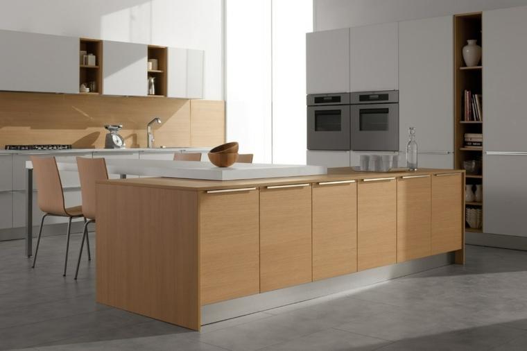 cocina isla muebles cocina amplia opciones ideas