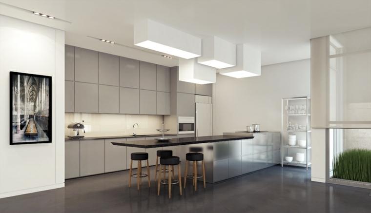 Cocinas blancas y grises  los 50 diseños más actuales
