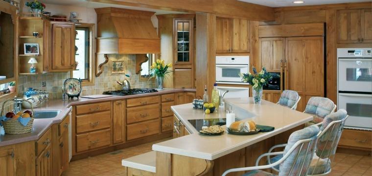 cocina muebles madera diseno retro ideas
