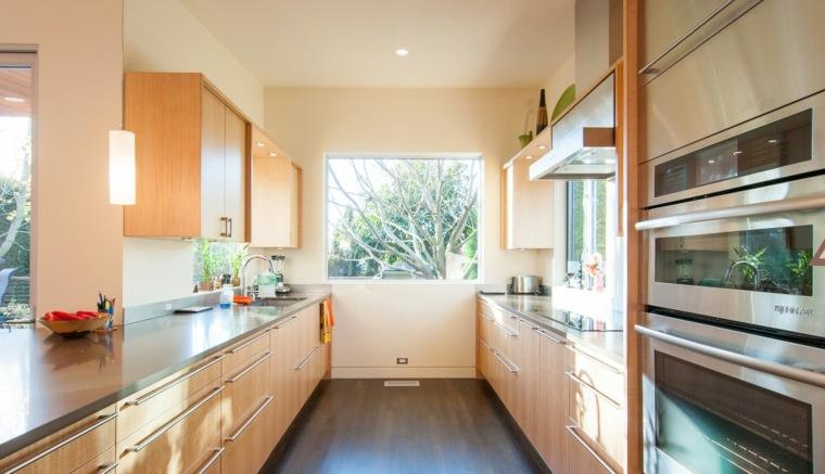 cocina estilo moderno madera