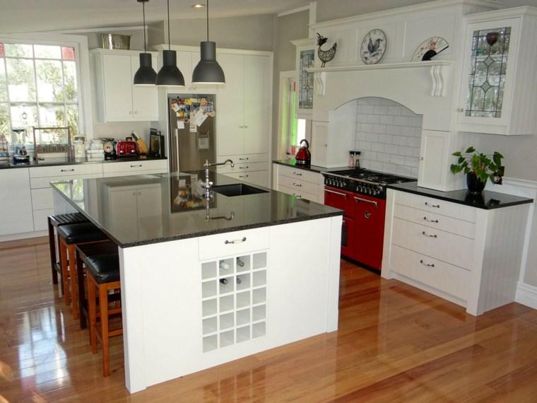 cocina blanca retro moderna