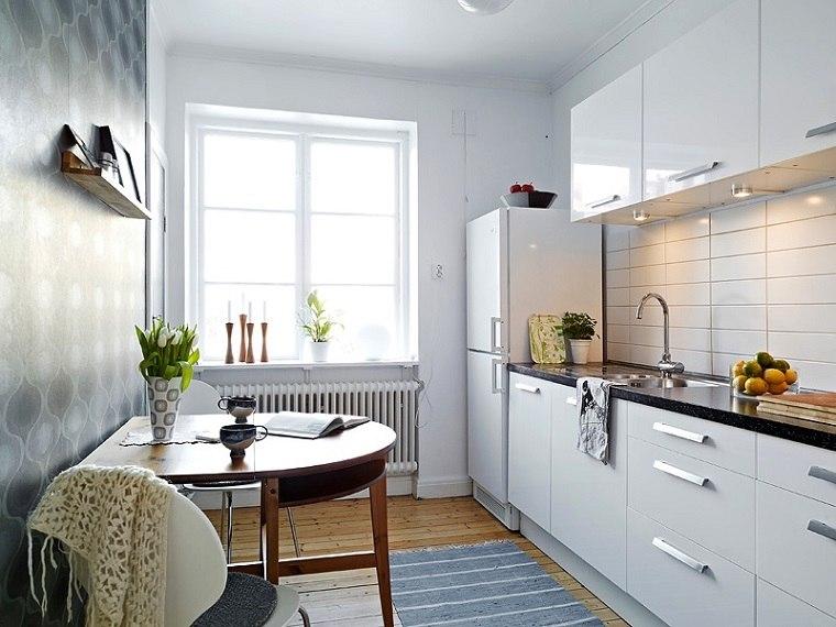 cocina moderna pequeña blanca