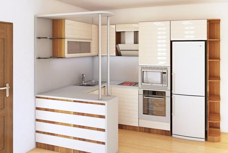 Cocinas con barra americana 35 dise os de lujo for Cocinas blancas pequenas