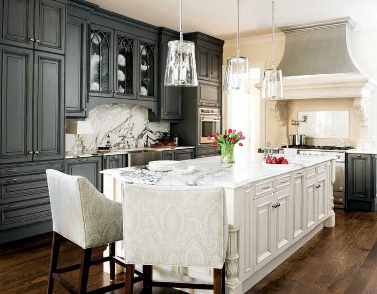 cocina estilo retro bonito diseño