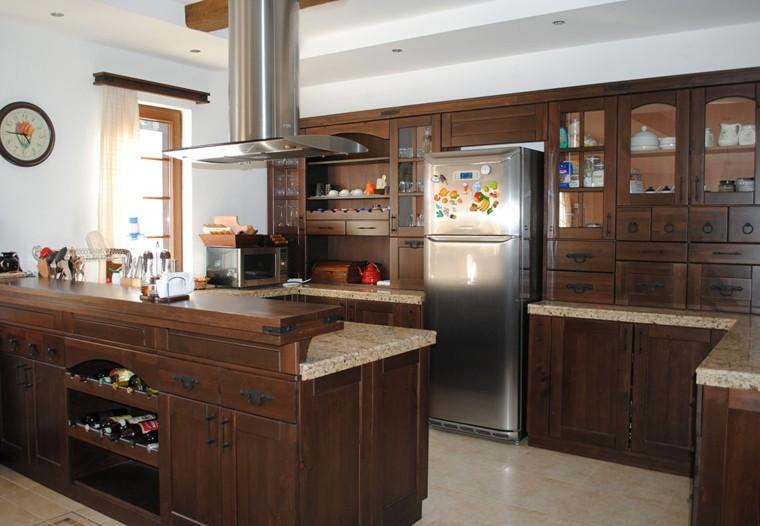 cocina retro muebles madera barra ideas with mueble cocina americana