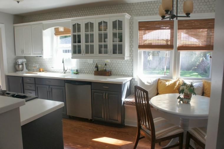 Cocinas blancas y grises los 50 dise os m s actuales for Cocinas tradicionales blancas