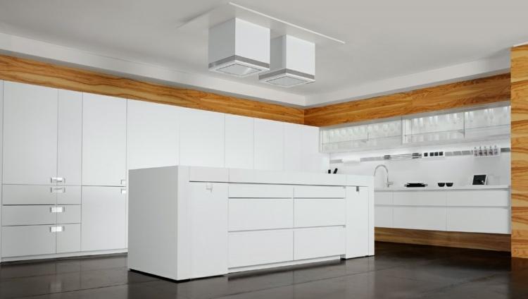 cocina unica soluciones diseño suelos maderas blanco