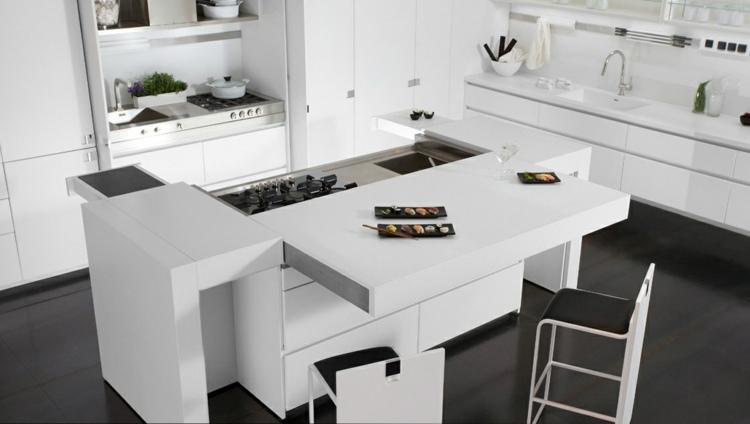 cocina unica soluciones diseño suelos negros grises