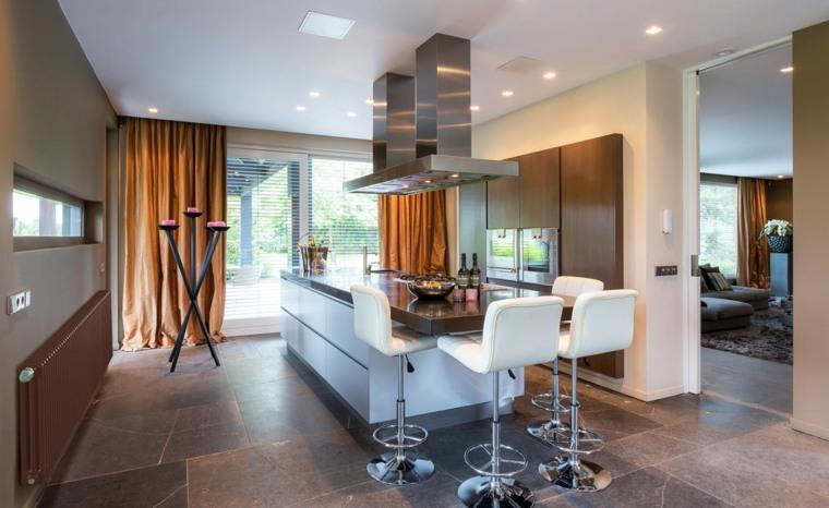 Cocinas con barra americana 35 diseños de lujo