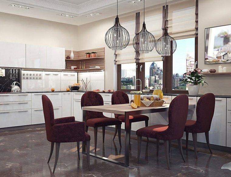 cocina bonita elegantes comedor incluido ideas