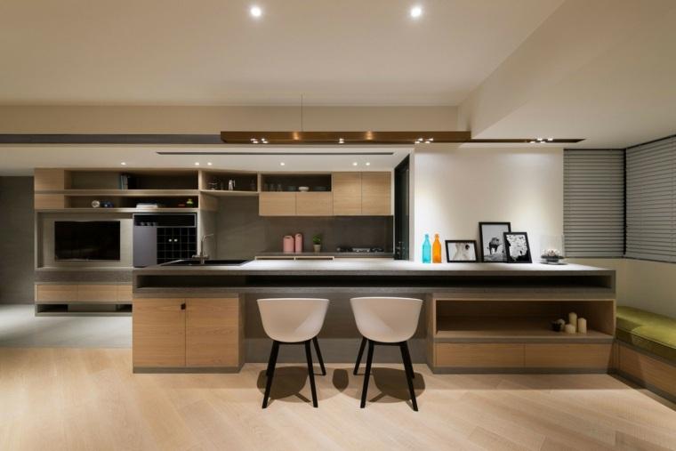 cocina bonita espacio amplios isla grande ideas