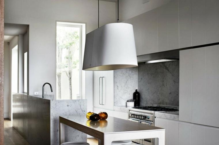 cocina bonita marmol lujoso isla ideas