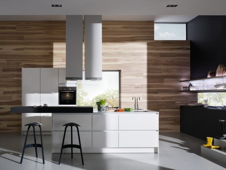 cocinas con barra americana color negro ideas