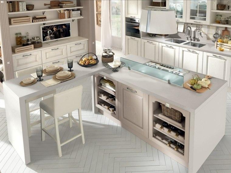 cocinas con barra americana diseno clasico blanco ideas with diseos cocinas americanas
