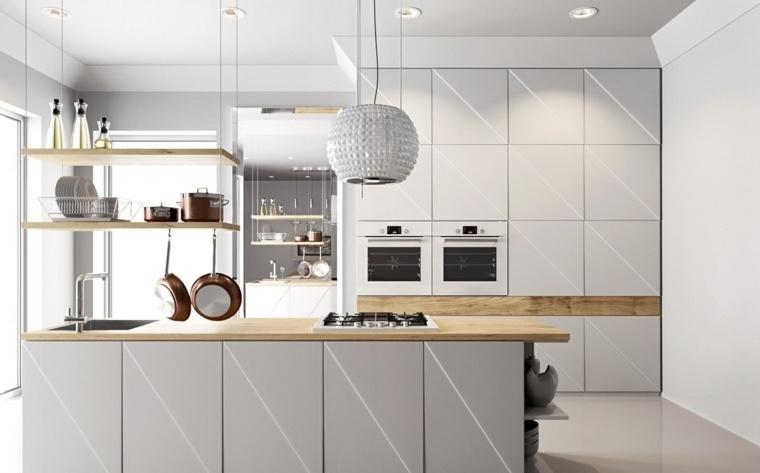 cocinas con isla gabinetes originales ideas