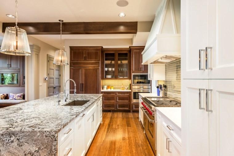 Cocinas con isla 50 ideas de muebles blancos o de madera. -
