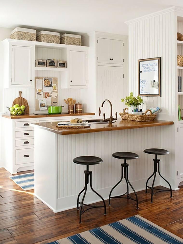 cocinas con isla pequeno espacio ideas