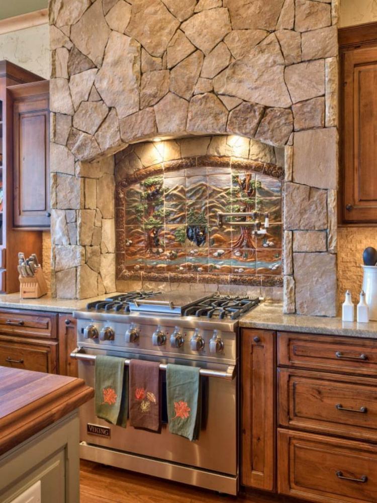 cocinas fotos decoracion estilos rocas mural