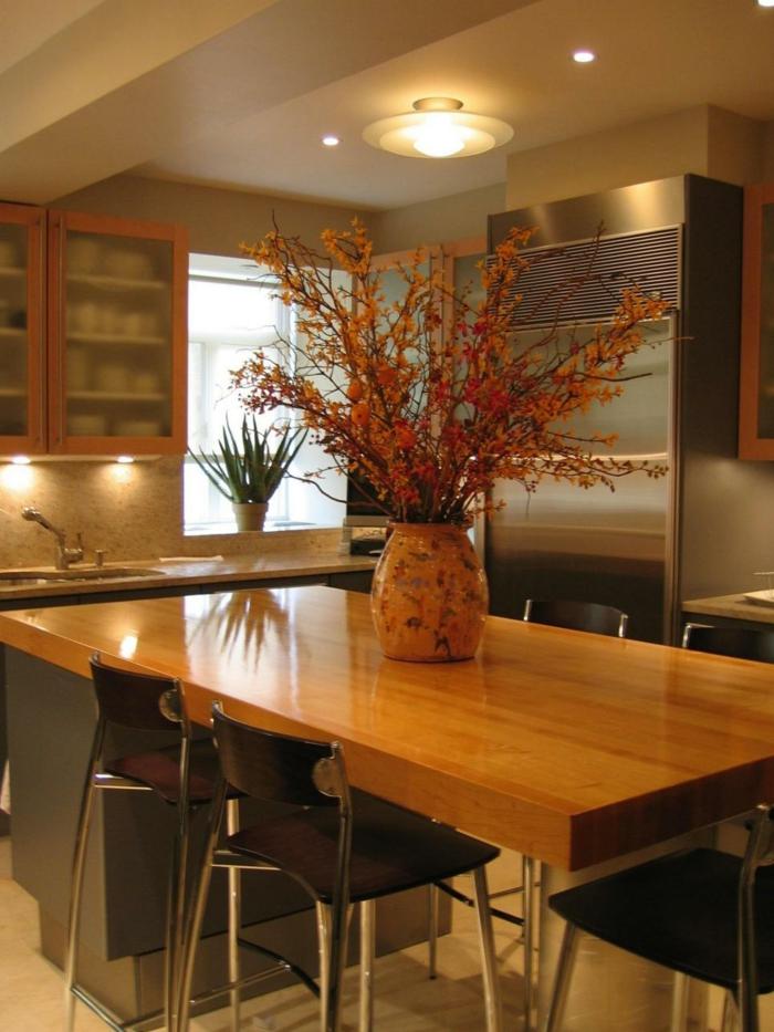 cocinas ideas acogedoras plantas mesas centro