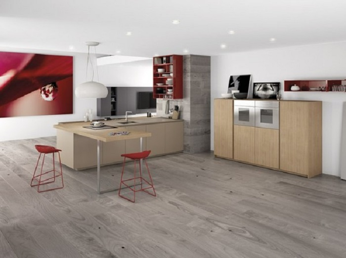 cocinas mobiliario diseño estilos atractivas rojo