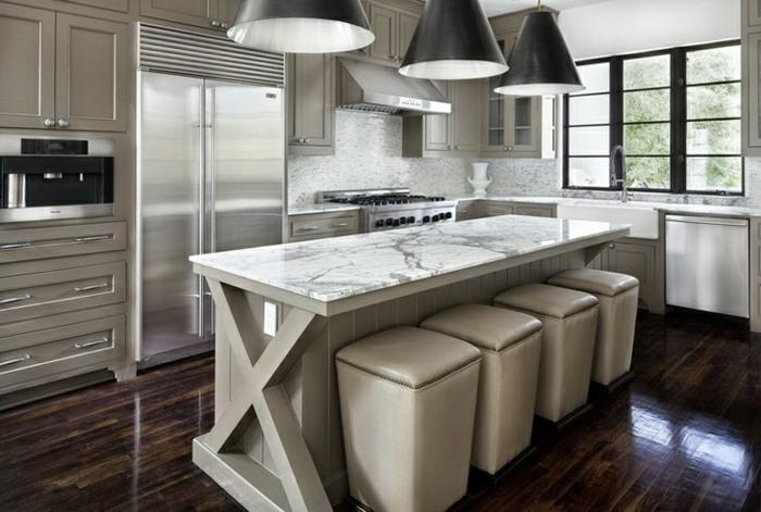 cocinas mobiliario diseño estilos cucharas marrones