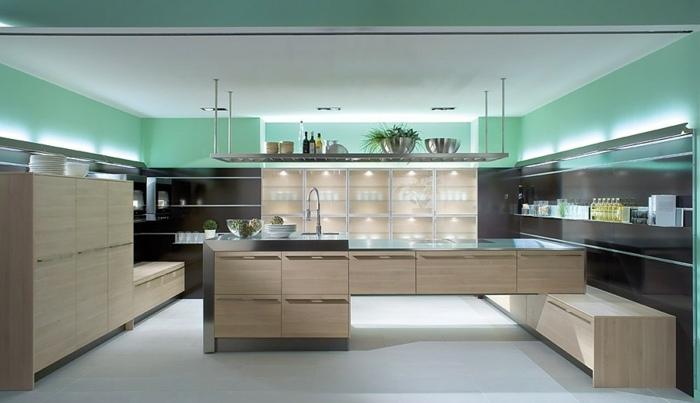 cocinas mobiliario diseño implementos abiertas verdes