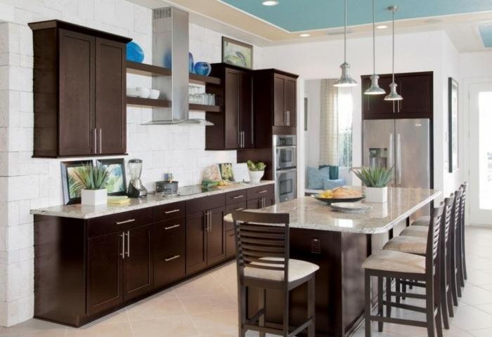 cocinas mobiliario diseño redondeados rayas