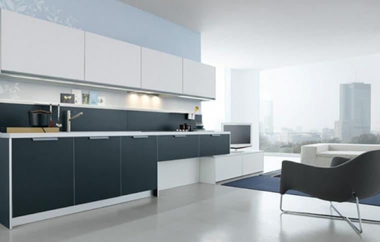 cocinas modernas blancas y grises