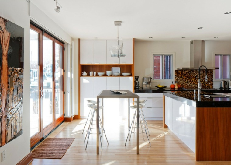 Cocinas sencillas la inspiraci n que necesita - Mesa alta de cocina ...