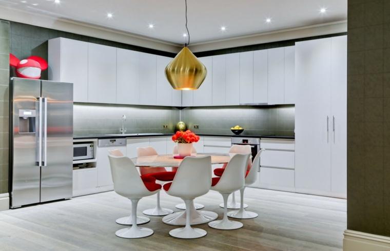 cocina sensillas muebles comedor color blanco ideas