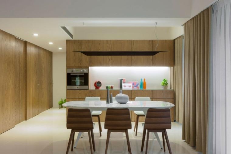 cocina sensilla muebles madera mesa sillas comedor ideas