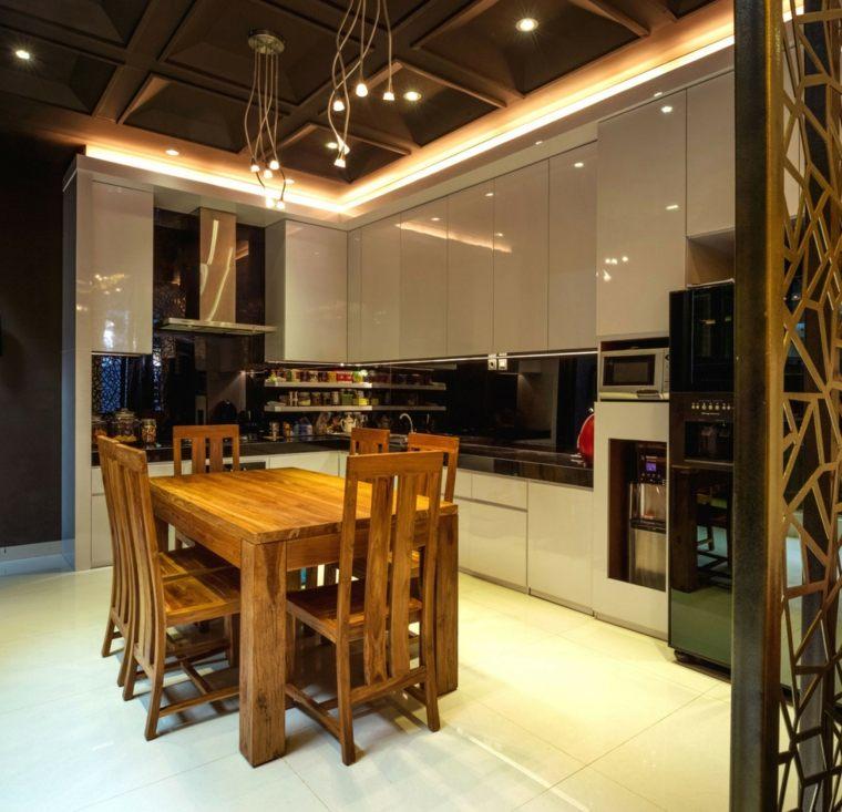 cocina sensilla techo iluminacion LED ideas