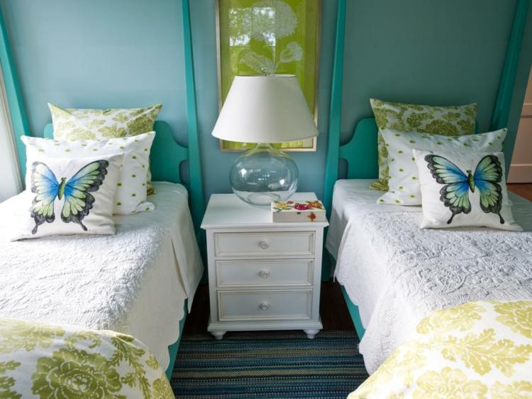 colores camas ideas variantes mariposas muebles