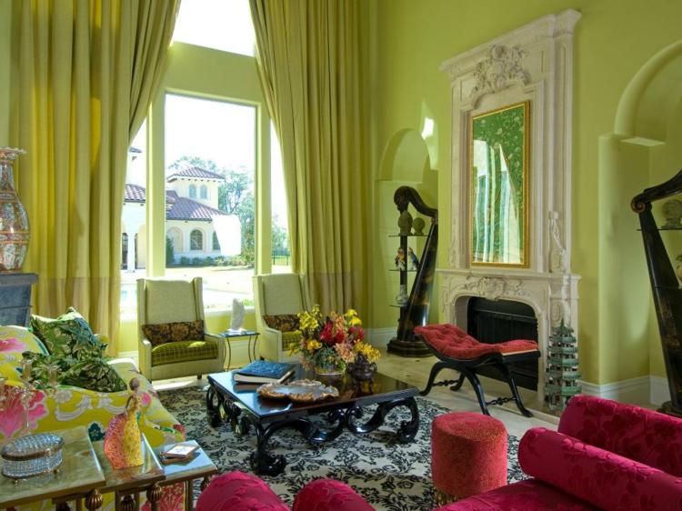 Colores para pintar un salon en 50 espacios diferentes.