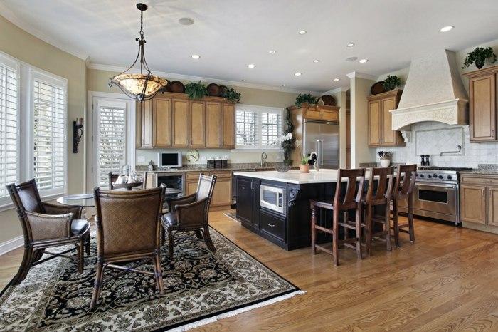 Cocinas Mobiliario Con Estantes Pendientes Y Tradicionales