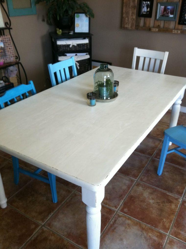 mesa comedor vintage diseño simple
