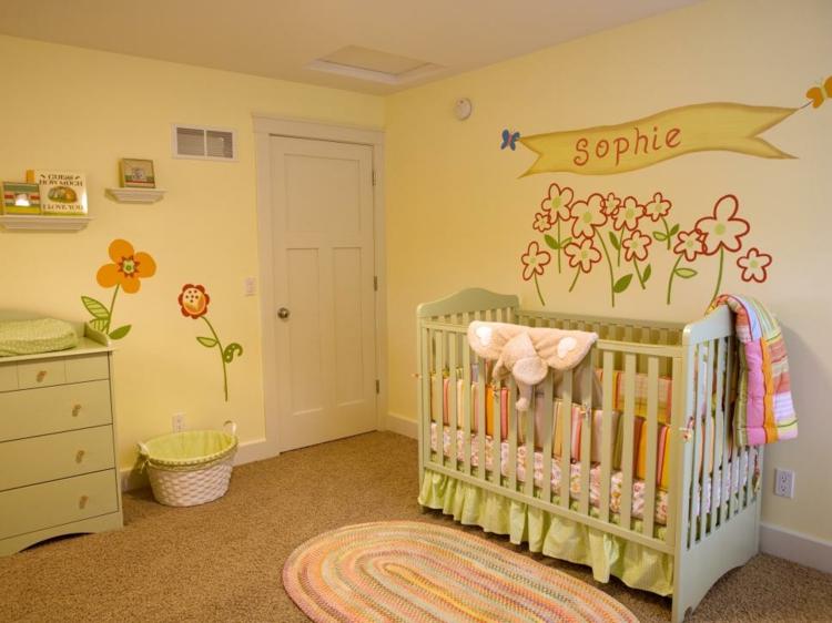 Decorar pared bebe decorar habitacin de beb final with - Como adornar una pared ...