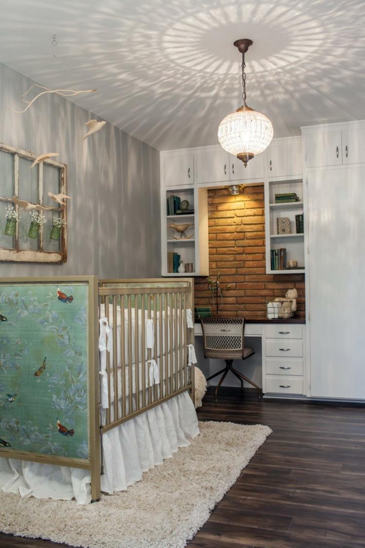 como decorar una habitacion de bebe ladrillos detalles