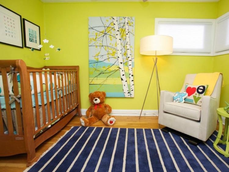 como decorar una habitacion de bebe lineas plantas