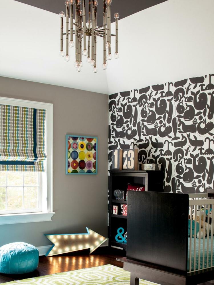como decorar una habitacion de bebe oscuros verdes