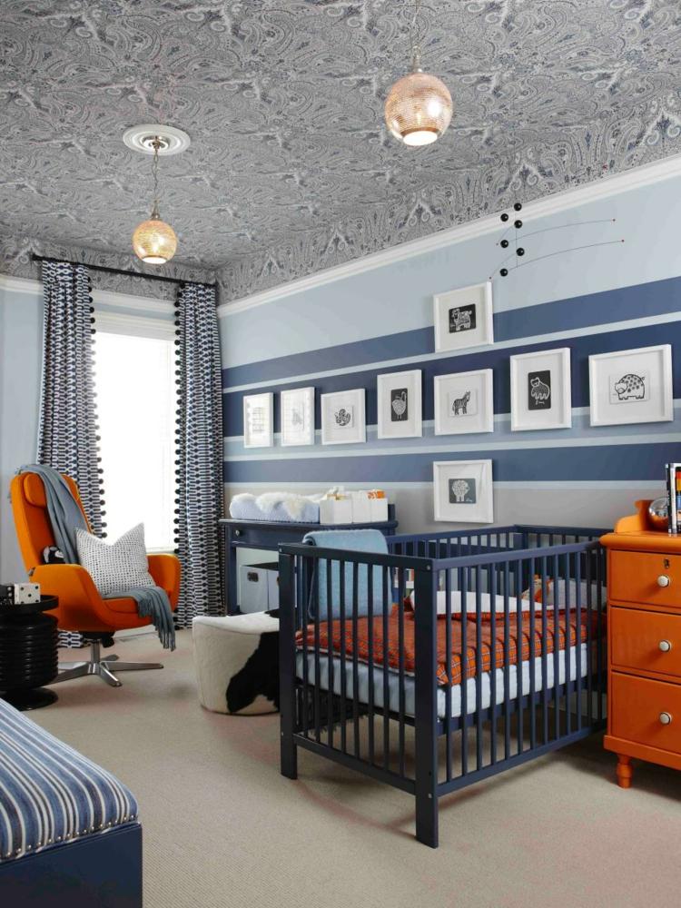 como decorar una habitacion de bebe pendientes rojos