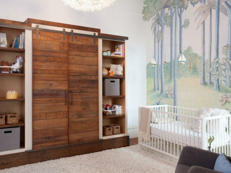 como decorar una habitacion de bebe rustico muebles palmeras