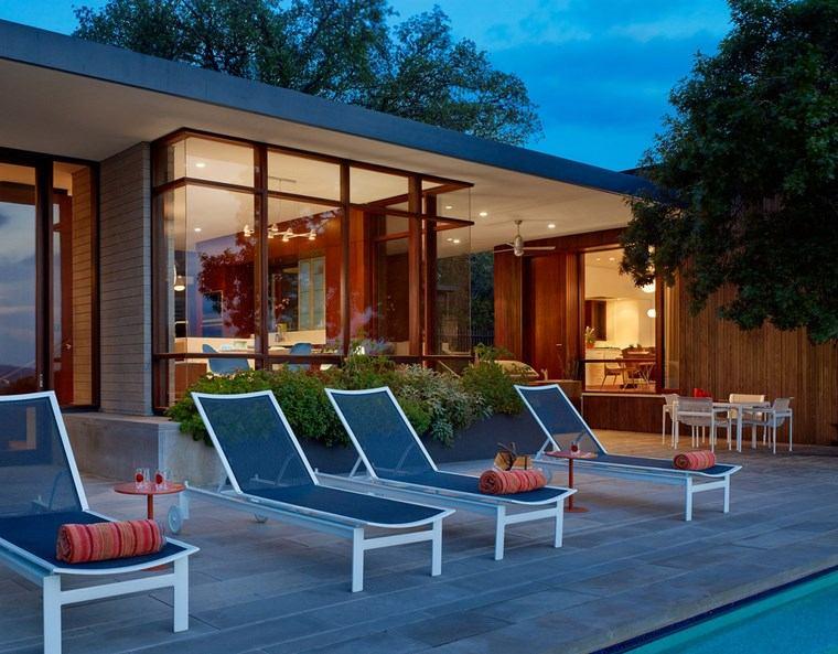 como decorar terraza casa jardin moderno ideas