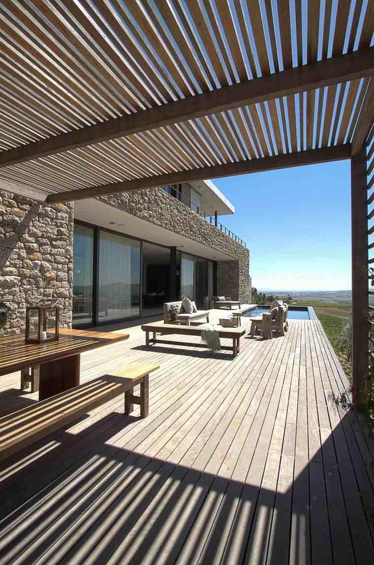 como decorar terraza pergola espacios amplios ideas